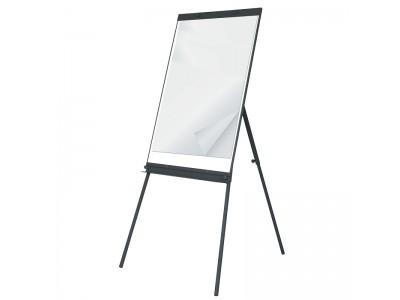 Флипчарт магнитно-маркерный, 60x90 см, пласт. рамка, подставка-тренога, арт. IWB-601