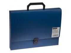 Папка-портфель 1 отделение OfficeSpace, 600мкм, цвет синий
