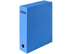 Папка архивная на резинках OfficeSpace, микрогофрокартон, 75мм, синий, до 700л. 225424