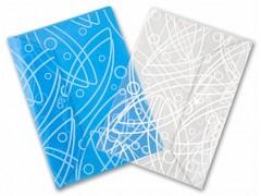"""Конверт на кнопке Бюрократ -GA801BLUE A4 с рисунком """"Galaxy"""" пластик 0.18мм синий"""