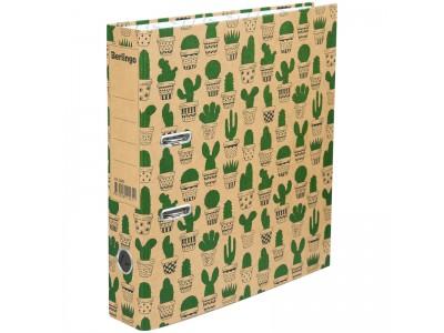 "Папка-регистратор Berlingo ""Cactus"", 70мм, картон, с рисунком, арт. ATk_70402"