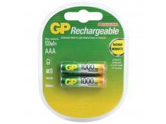 Аккумулятор GP AAA (HR03) 1000mAh 2BL GP 100AAAHC-2DECRC2