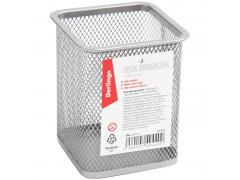 """Подставка-стакан Berlingo """"Steel&Style"""", металлическая, квадратная, цвет серебристый"""