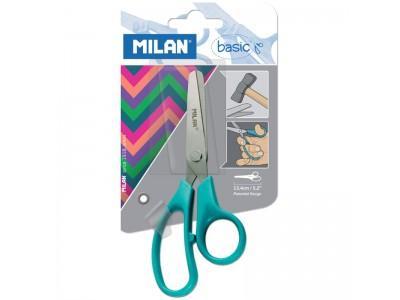 """Ножницы Milan """"Basic"""" 13,3см, эргономичные ручки, ассорти, арт. 80066"""