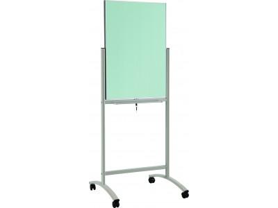 Флипчарт стеклянный магнитно-маркерный Classic Boards BMF96-E7/G, 90x60см (белый), мобильный на колесиках