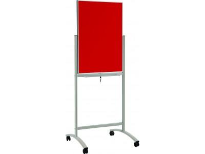 Флипчарт стеклянный магнитно-маркерный Classic Boards BMF96-E7/G, 90x60см (красный), мобильный на колесиках