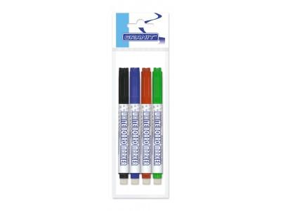 Набор маркеров для доски с губкой M415, 4 цв., 1.5-2.5 мм, GRANIT