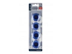 Набор магнитов неодимовых 40мм, 4 шт. прозрачно-синие МН40ПС