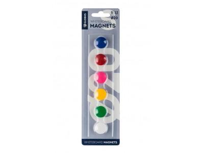 Набор магнитов цветных 20 мм, 6 шт. МЦ20