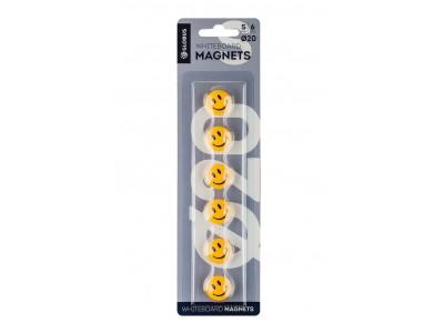 """Набор магнитов """"Смайлики"""" 20 мм, 6 шт. МЦС20"""