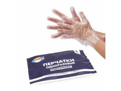 Перчатки полиэтиленовые одноразовые , 100шт/уп, размер L