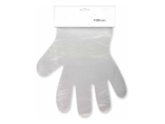Перчатки полиэтиленовые одноразовые с отрывом р-р L 100шт/уп