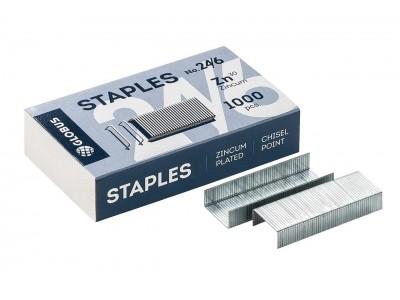 Скобы для степлера Globus №24/6 1000 шт. С24/6-1000