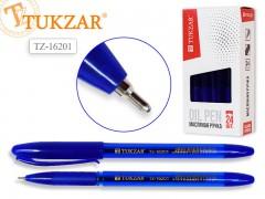 Ручка с чернилами на на масляной основе, цв.чернил - синий 0,7мм, цв.корпуса синий, арт. TZ 16201