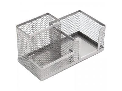 """Настольная подставка Berlingo """"Steel&Style"""", металлическая, 3 секции, серебристая BMs_41301"""