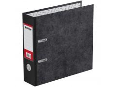 """Папка-регистратор Berlingo """"Standard"""", 70мм, А5, мрамор, вертикальная, с карманом на корешке, черная AM5710"""