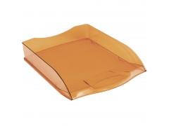 """Лоток для бумаг горизонтальный OfficeSpace """"Colorful"""", тонированный оранжевый HT_33848"""
