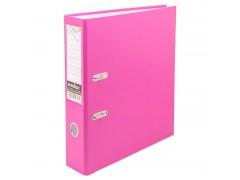 Папка-регистратор 50 мм, PVC, розовая, с металлической окантовкой, арт. IND 5/30 PVC NEW РОЗ