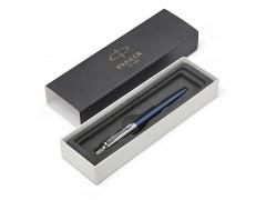 Ручка шариковая JOTTER Royal Blue CT, синий корпус из нерж.стали, колпачок и клип из нерж.стали,син черн M, арт. PARKER-1953186