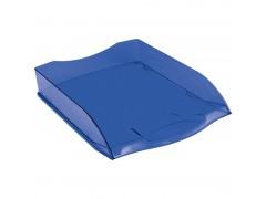 """Лоток для бумаг горизонтальный OfficeSpace """"Colorful"""", тонированный синий HT_33849"""