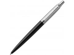Ручка шариковая JOTTER Bond Street Black CT, черный корпус из нерж.стали, колпачок и клип из нерж.стали,син черн M, арт.PARKER-1953184