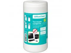 Туба с чист. салфетками OfficeClean универсальные, антибактериальные, 100шт., арт. 249230