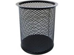 Стакан для канцелярских принадлежностей металлический круглый Horer, черный, арт. В802А