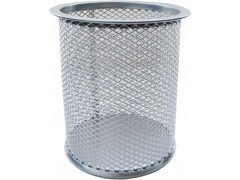 Стакан для канцелярских принадлежностей металлический круглый Horer, серебро, арт. В802А