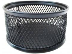 Подставка для канцелярских принадлежностей металлическая круглая Horer, черная, арт. В802С05