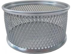 Подставка для канцелярских принадлежностей металлическая круглая Horer, серебро, арт. В802С05