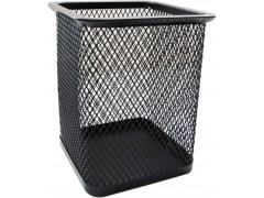 Стакан для канцелярских принадлежностей металлический квадратный Horer, черный, арт. В804
