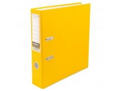 Папка-регистратор 50 мм, PVC, желтая, с металлической окантовкой, арт. IND 5/30 PVC NEW ЖЕЛ