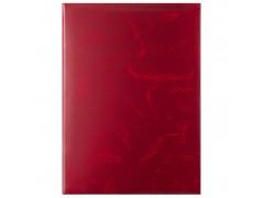 Папка без надписи, бумвинил, ф. А4, красная, арт. АПБ4-000