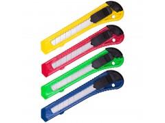 Нож канцелярский 18мм OfficeSpace, с фиксатором, европодвес CUT18_1368