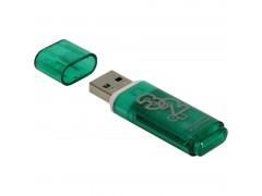 "Память Smart Buy ""Glossy"" 32GB, USB 2.0 Flash Drive, зеленый SB32GBGS-G"