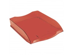 """Лоток для бумаг горизонтальный OfficeSpace """"Colorful"""", тонированный красный HT_33847"""
