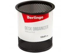 """Подставка-стакан Berlingo """"Steel&Style"""", металлическая, круглая, черная, арт. BMs_41102"""