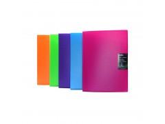 Папка с 20 файлами COLOURPLAY, ф.A4, 0,7мм, прозрачная, ассорти, арт. ICPD20/ASS