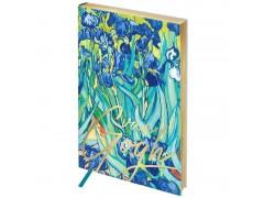 """Ежедневник недатир. B6, 136л., кожзам, Greenwich Line """"Vision. Van Gogh. Irises"""", тон. бл, зол. срез ENB6-25324"""