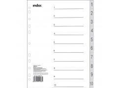 Разделитель пластиковый, цифровой 1-10, ф. А4, арт. IND112