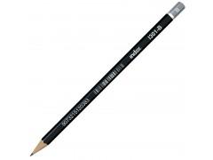 Карандаш чернографитный, без ластика, тв. B, в цвет. коробке, арт. I301-B