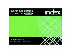 Бумага для заметок статическая, маркерная, 70х100мм, зеленая, 100, арт. I533603