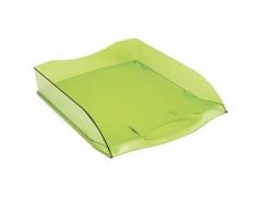 """Лоток для бумаг горизонтальный OfficeSpace """"Colorful"""", тонированный зеленый HT_33846"""