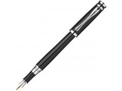 Ручка перьевая Astronomo,черный корпус, хромированные детали, синий М, арт. FF-FP1532