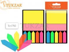 Набор блоков с липким слоем на пластиковой подложке /7,5*7,5*- 1 шт. бумага, 4,5*1 -5 шт. пластик/ цвет АССОРТИ, арт. TZ 1762