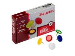 Кнопки 10 мм, 50 шт. виниловое покрытие цветные К10-50Ц
