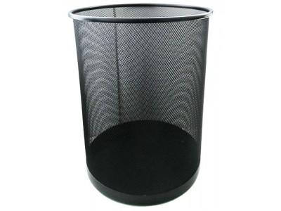 Корзина для бумаг металлическая, HORER, черная, арт. L5001