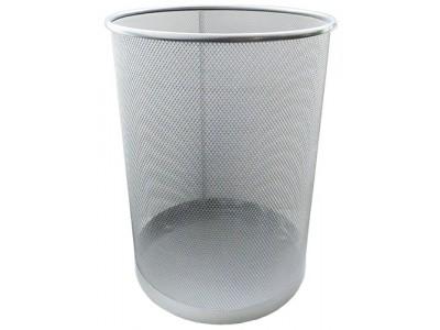 Корзина для бумаг металлическая, HORER, серебро, арт. L5001