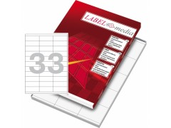 Этикетка самокл. А4/33, 100л., р.70*25,4мм. Labelmedia