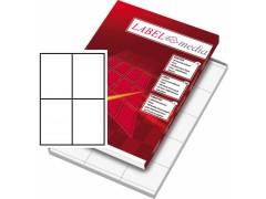 Этикетка самокл. А4/4, 100л., р.105*148мм. Labelmedia